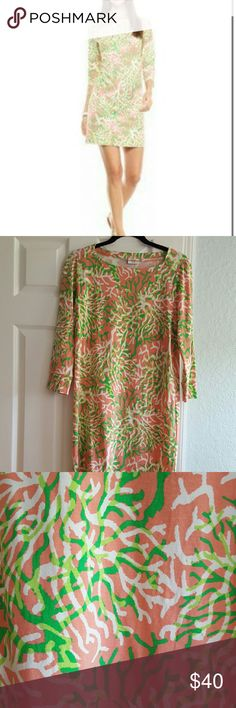Crown and Ivy Dress Beautiful coral, green and white dress. NWOT, never worn. Crown and Ivy Dresses Mini