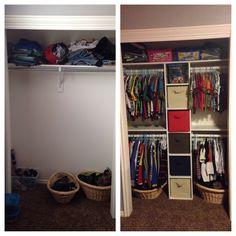 Boys closet organizer