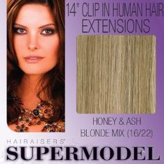 "14"" Clip In Human Hair Extensions Colour 16/22"