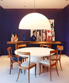 9 Awesome Dining Room Paint Color Ideas and Inspiration Gallery Dining Room Paint Colors, Dining Room Sets, Dining Room Design, Dining Area, Interior Flat, Room Interior Design, Home Office Decor, Home Decor, Modern Dining Table