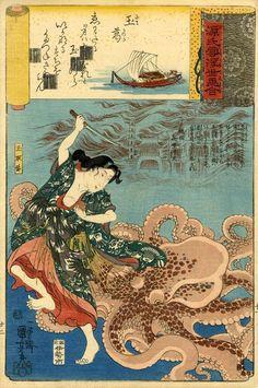 Estampes de femmes guerrières japonaises | Fudoshinkan - le magazine des arts martiaux