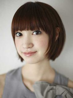 short straight hair style - only with side sweeping bangs :)