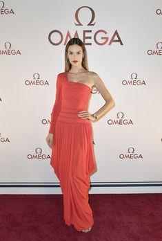 Alessandra Ambrossio arrives at the OMEGA Aqua Terra Collection Celebration.