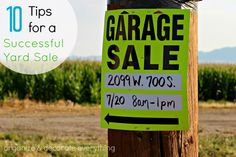 10 Tips for a Successful Yard Sale - Organize and Decorate Everything