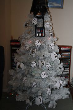 Star Wars Christmas Tree - by Secretspace  My Christmas tree that I spent all night making.A true nerds Christmas!  (Submitted bysecretsinspace)