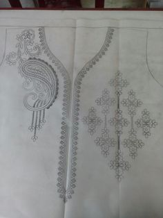 Discover thousands of images about Design ideas Hand Embroidery Patterns Free, Border Embroidery Designs, Hand Embroidery Videos, Hand Work Embroidery, Embroidery Motifs, Embroidery Fashion, Beaded Embroidery, Quilting Designs, Machine Embroidery