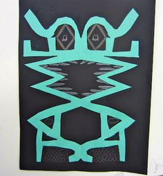 Name Monsters. Incorporates symmetry with an art activity. Love this idea. - Name Monsters. Incorporates symmetry with an art activity. Love this idea. 4th Grade Art, Fourth Grade, 4th Grade Crafts, Math Crafts, Grade 2, Third Grade, Symmetry Art, Ecole Art, Math Art