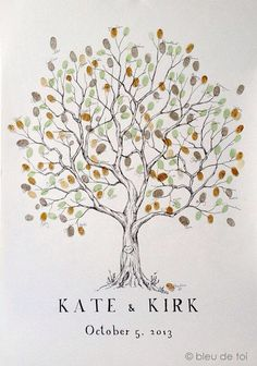 Finger print tree guest book idea. Several to choose from.