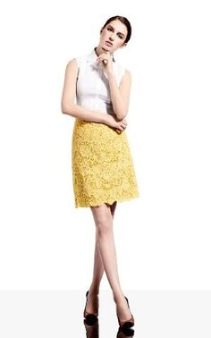 Karen Millen Beautiful Cotton Lace Skirt : Occasion Wear