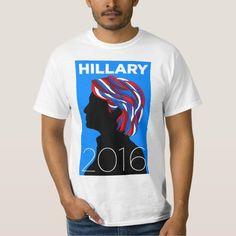 Hillary Clinton for President 2016: Men's T-shirt (Retro design)