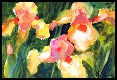 Iris Flower Doormat