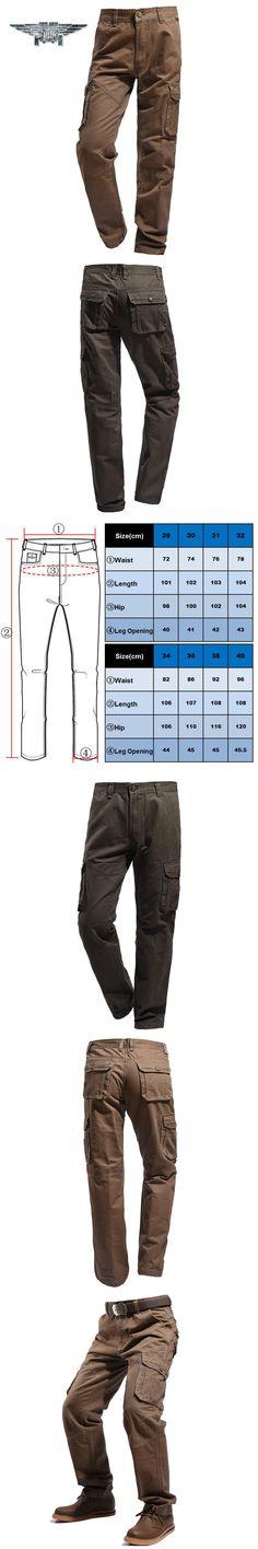 2016Men's Casual Cotton Pants Men Pants Trousers Military Stylish Multi-pocket Overalls YN2016-005