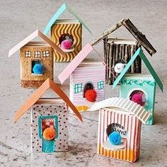 Have you ever tried to do something with your already used matchboxes? So, let us see together these lovely Matchbox Crafts Kids Crafts, Winter Crafts For Kids, Winter Kids, Crafts To Do, Projects For Kids, Diy For Kids, Home Crafts, Arts And Crafts, Paper Crafts