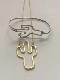 Cactus bracelet cactus necklace cactus charm by PopandLocket