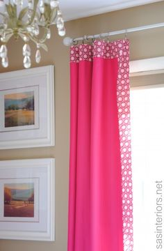 Big Girl Bedroom via sasinteriors.net  -add patterned border to solid curtains