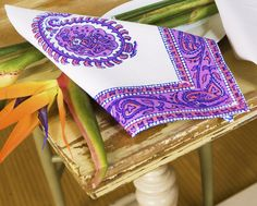 Table Linens Napkins - Hand Block Printed from Attiser