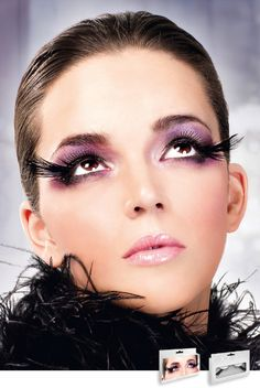 76096437424 Black feather Feather Eyelashes, Fake Eyelashes, Long Lashes, Lingerie  Accessories, Colored Contacts