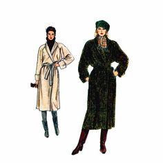 1980s Wrap Coat Vogue 8439 Vintage Sewing Pattern
