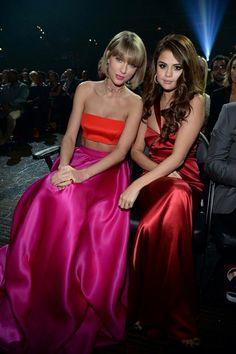 Taylor Swift and Selena Gomez GRAMMYs 2016