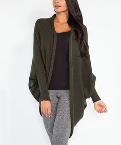 Loving this Olive Open Cocoon Cardigan on #zulily! #zulilyfinds