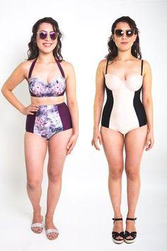 Sophie Swimsuit Pattern // High Waisted Bikini & Bustier One Piece // Closet Case Files