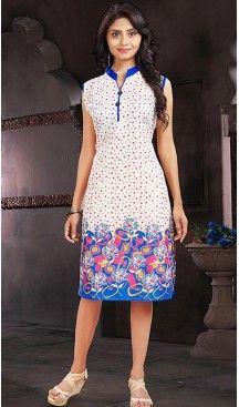 Cotton White Color Daily Wear Readymade Kurtis | FH480774191 #kurtis , #kurtas , #tunic , #top , #fashion , #clothing , #women , #heenastyle , #ladies , @heenastyle , #teenagers , #girls , #style , #mode , #mehendi
