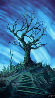 Dead Tree Art iPhone Wallpaper - iPhone Wallpapers