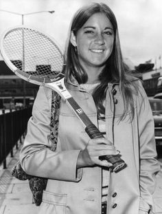 Chrissie Evert in the early 70s