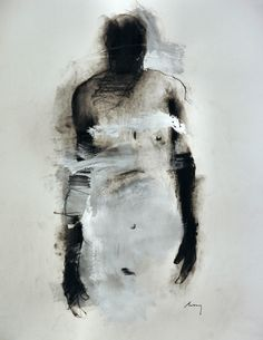 "Part of ""Figures, charcoal & acrylic on paper"" by Harry Ally. ♡"