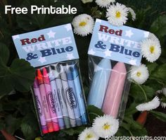 Free printable for 4th of July Party favors