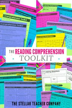 The Reading Comprehension Toolkit is full of everything you need to effectively teach 3rd, 4th & 5th grade reading. Includes teacher guides, strategy response pages, student rubrics, choice boards and instructional videos to help you make the most out of your amazing resources! Teaching 5th Grade, 5th Grade Reading, Student Reading, Help Teaching, Teaching Reading, Guided Reading, Reading Resources, Reading Strategies, Reading Comprehension
