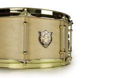 Revelation Drums Series 1 Snare Drum 6.5x13in.- Natural Satin Stain, Brass Hardware