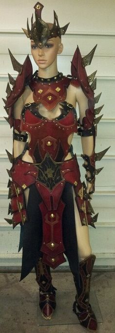 Ladies Battle Mage Gothic Leather Armor by SharpMountainLeather, $1750.00