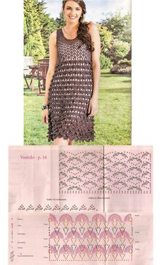 pretty lacy summery crocodile stitch crochet dress! <3