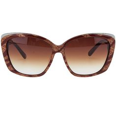 Pre-owned Michele Havana Brown Plastic Cat Eye Sunglasses CAT 3 ($23) ❤ liked on Polyvore featuring accessories, eyewear, sunglasses, plastic glasses, brown sunglasses, cat-eye sunglasses, brown lens sunglasses and lens glasses