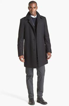 BOSS HUGO BOSS Car Coat & Straight Leg Pants  available at #Nordstrom