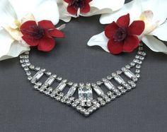 Sure wish I had somewhere to wear this!    http://www.etsy.com/listing/62711874/vintage-diamante-rhinestone-necklace