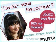 Gagner un #Headband #tresse argenté ! Jouer sur notre page #Facebook : http://www.facebook.com/frexo.fr