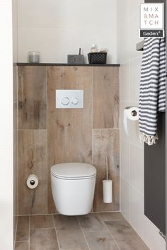 Mix & Match badkamer - Baden+ specialist in complete badkamers Small Downstairs Toilet, Small Toilet Room, New Toilet, Africa Decor, Living Room Goals, Bathroom Toilets, Bathroom Design Small, Dream Bathrooms, Apartment Design