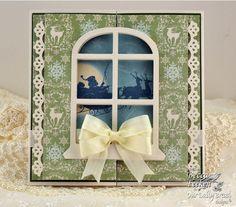 Lovely Xmas window card by Becca Feeken