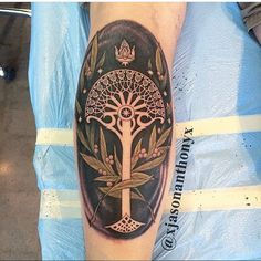 Wow, such a killer Tree of Gondor piece done by the very talented, @xjasonanthonyx ! Please go check out more of his work! #tolkientattoos #lotrtattoo #nerdytattoo #tattoo #tatted #inked #tattoo #girlswithtattoos #girlswithink #guyswithtattoos #guyswithink #lotr #botfa #onelasttime #nerd #nerdygirls #tattooer #art #follow #like #love #starwars #harrypotter #tolkienite #geek #tattooing #GoT #fantasy #thehobbit #treeofgondor