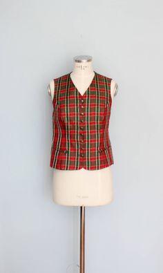Green Vest, Folk Fashion, Red Green, Folk Style, Fabric, Buttons, Etsy Shop, Dark, Nice