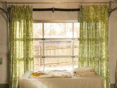 How to Turn Coverlets Into Curtains >> http://blog.diynetwork.com/maderemade/2014/01/24/make-custom-curtains-out-of-almost-anything?soc=pinterest