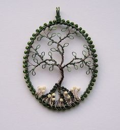 Different style on this tree of life using wire for the leaves.