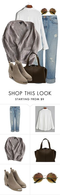 """Sin título #1664"" by mussedechocolate ❤ liked on Polyvore featuring J Brand, Topshop and CÉLINE"