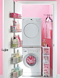 Maybe I could get away with painting a laundry room pink