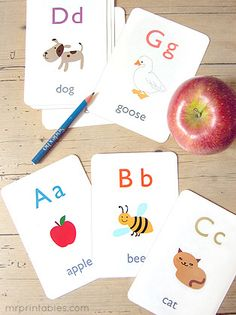16 Printable Flash Cards {abc, numbers, math, words}