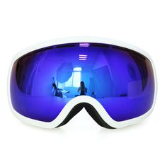 5682518c0c1e COPOZZ Unisex Ski Snow Goggles Over Glasses With Double Spherical Mirrored  Lens-Anti Fog-UV Protection Snowboard Snowmobile Motorcycle Winter Sport  Snow ...