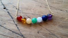SOLAR ECLIPSE NECKLACE #amethyst #australian-chrysoprase #blue-lace-agate #carnelian #chakra-jewelry #chakra-necklace #yellow-jade