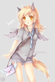 Derpy as a human... kawaii~ :3